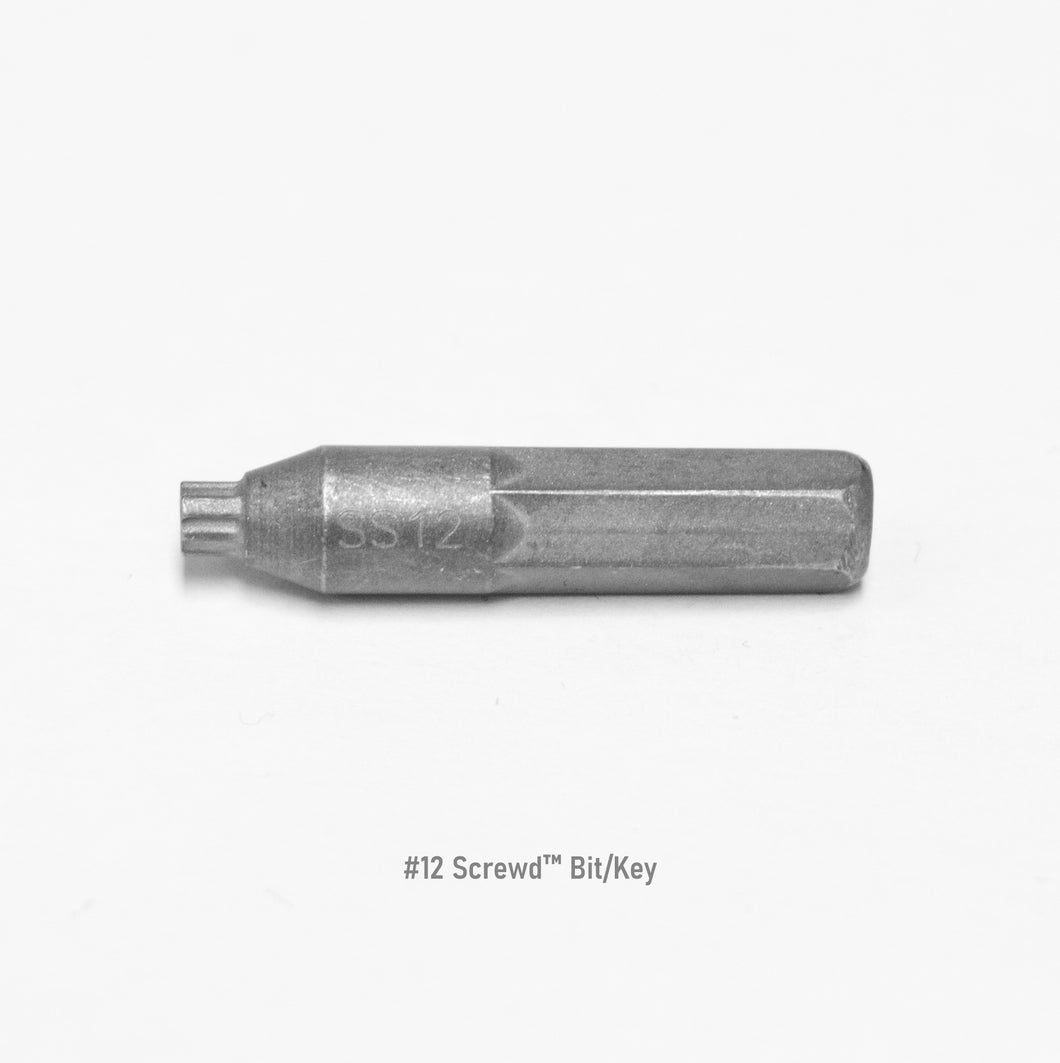 #12 Screwd® Security Driver Bit/Key