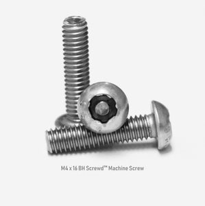 M4 x 16 Button Head Screwd® Security Metric Machine Screw Made out of Stainless Steel