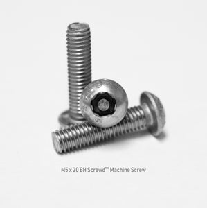 M5 x 20 Button Head Screwd® Security Metric Machine Screw Made out of Stainless Steel
