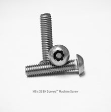 Load image into Gallery viewer, M8 x 35 Button Head Screwd® Security Metric Machine Screw Made out of Stainless Steel