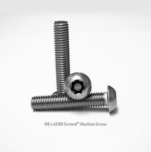 M8 x 40 Button Head Screwd® Security Metric Machine Screw Made out of Stainless Steel