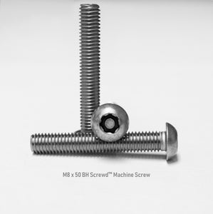 M8 x 50 Button Head Screwd® Security Metric Machine Screw Made out of Stainless Steel