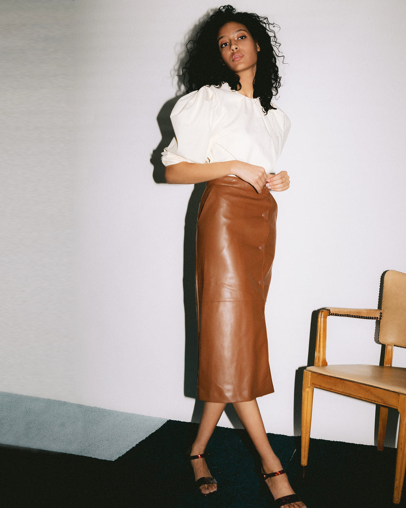 Soul Faux Leather Skirt
