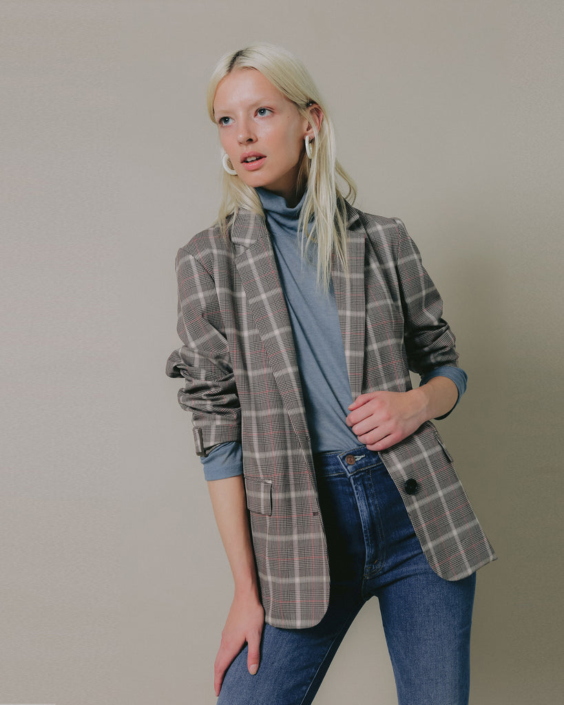 Vengi Plaid Blazer