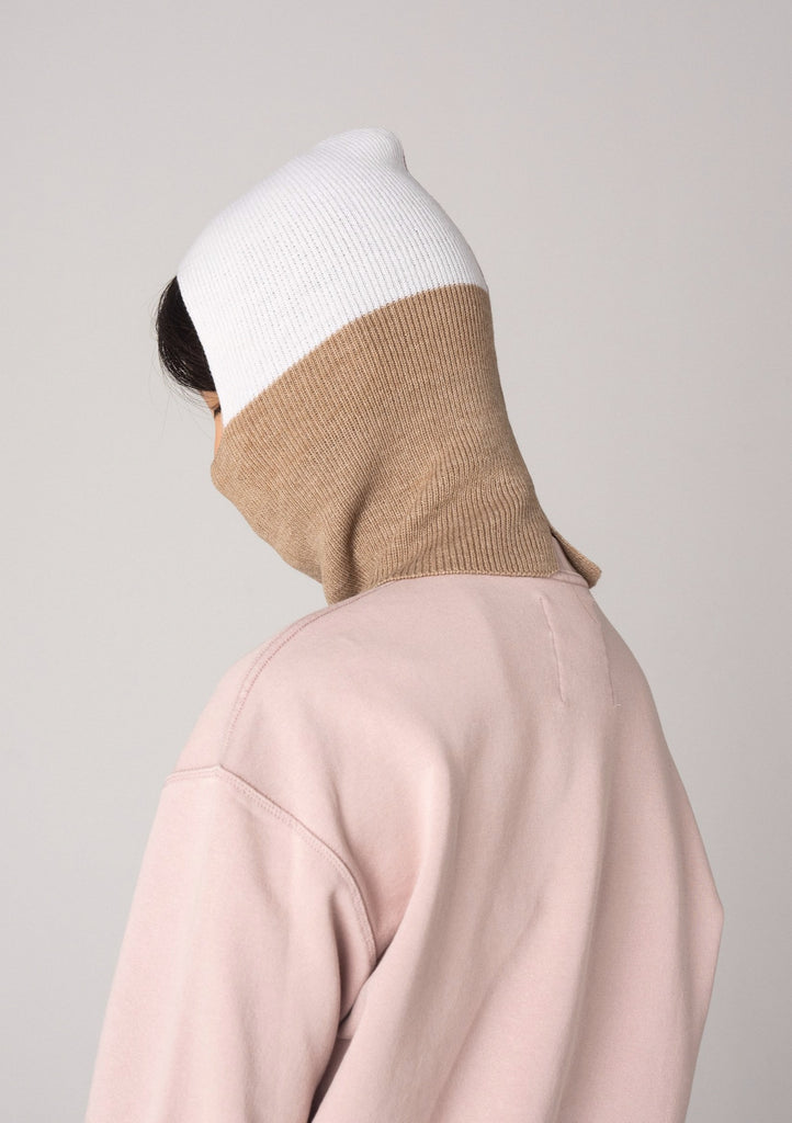 Colourblock Balaclava - Oat