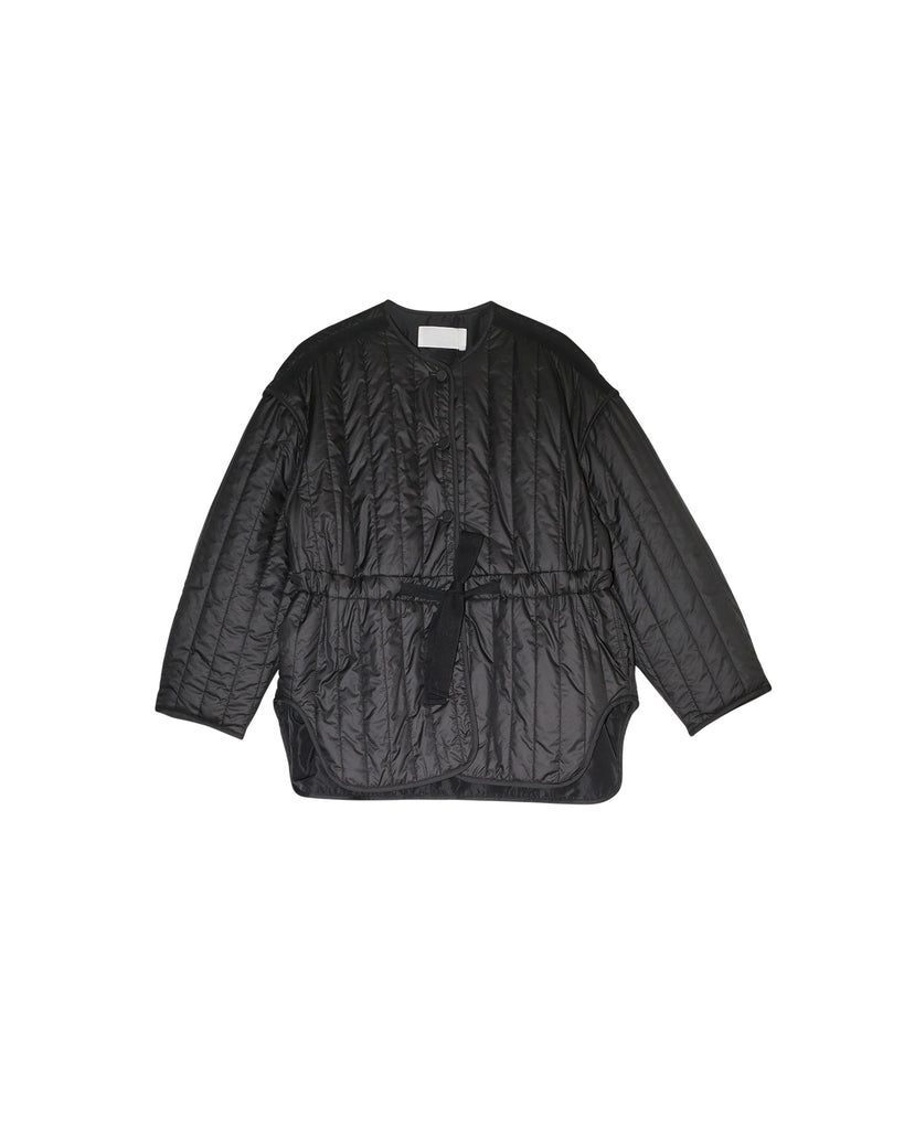 Hello Quilted Coat - Black