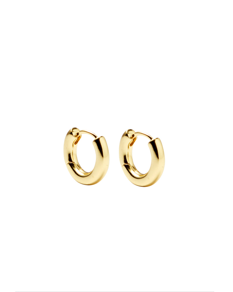 Perfect Gold Hinged Hoops