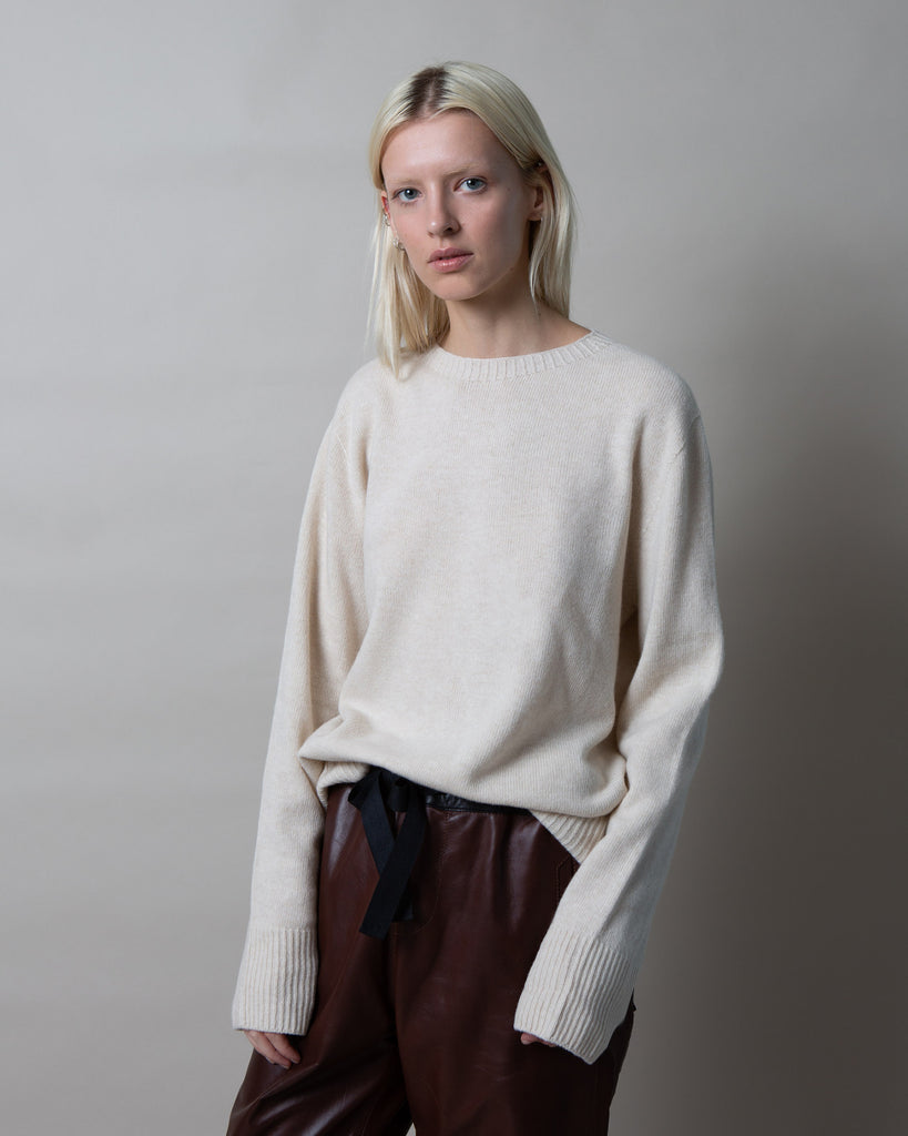 Lola Cashmere Blend Sweater Oatmeal