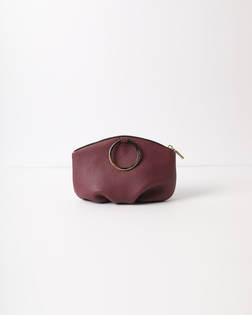 Pochette with Horn Ring - Burgundy