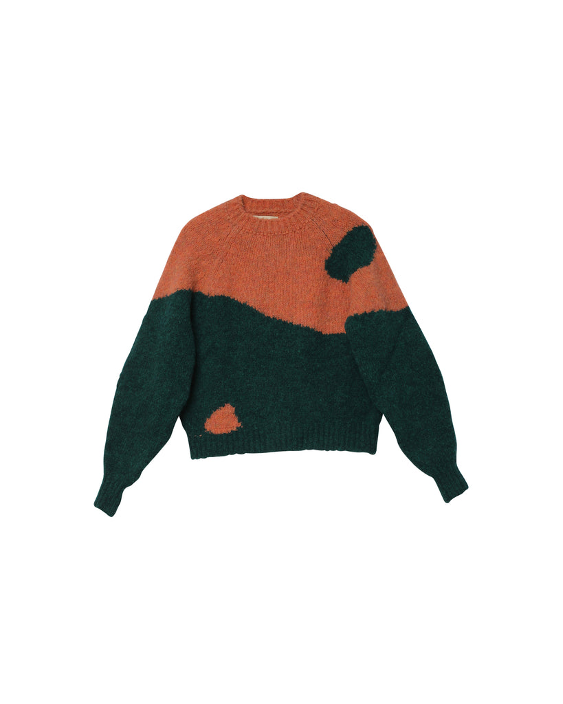 Ying Yang Sweater - Emerald