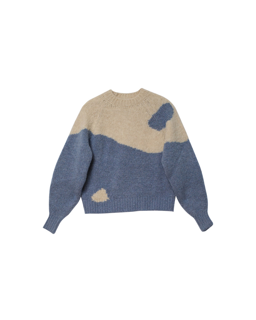 Ying Yang Sweater - Soft Blue