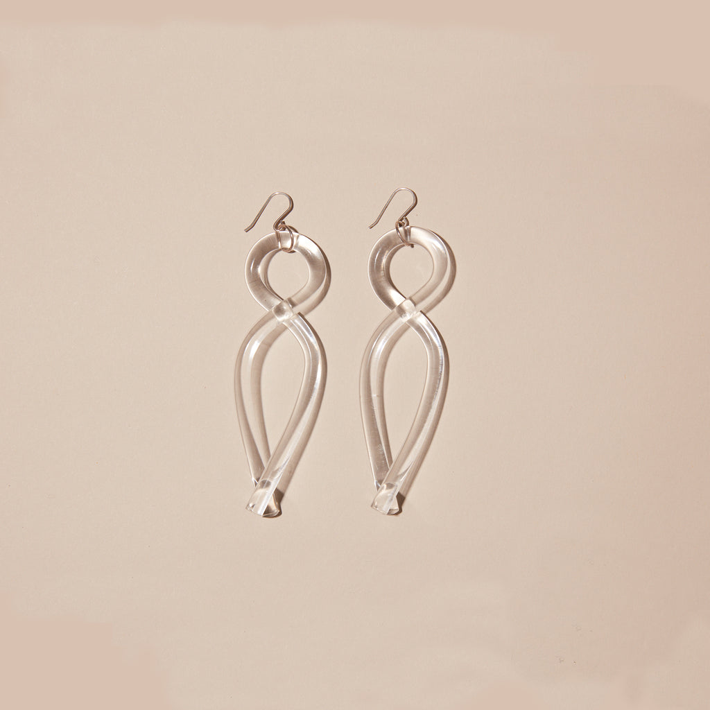 Twist Earring - Clear