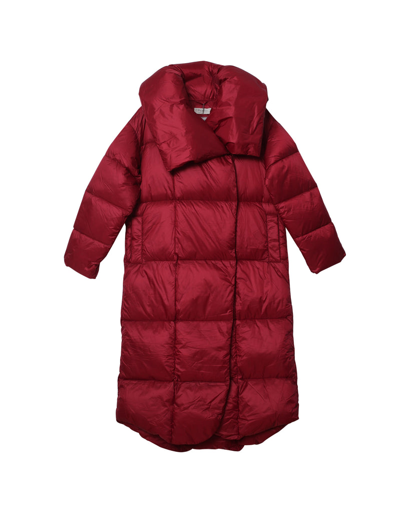 Gabi Puffer Coat - Deep Red