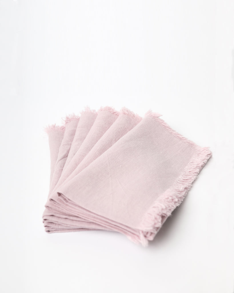 Fringe Linen Napkin Set of 6