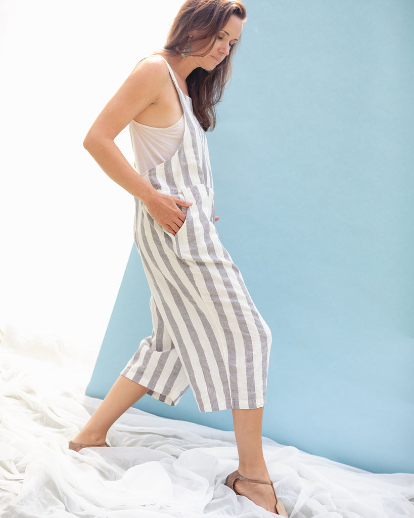 Edith Stripe Overalls