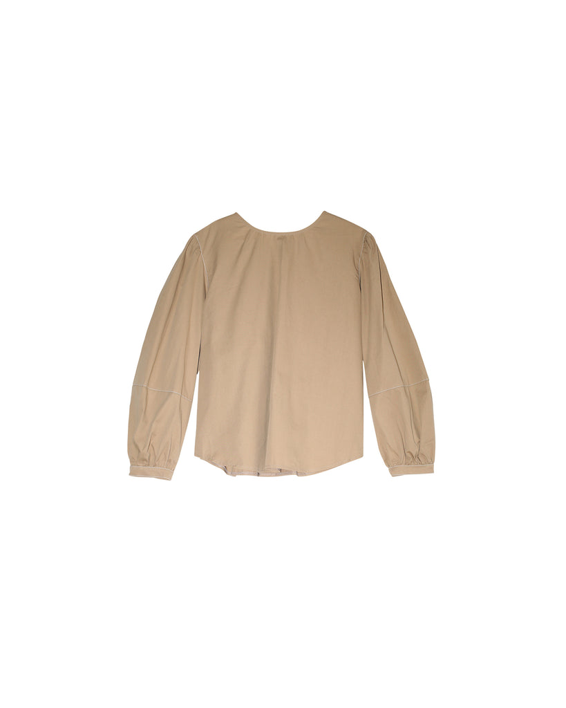 Terry Blouse - Tan