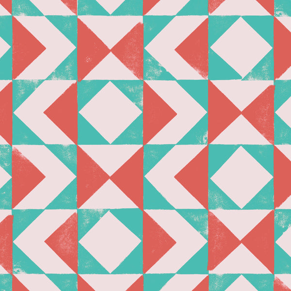 Block – Red & Turquoise