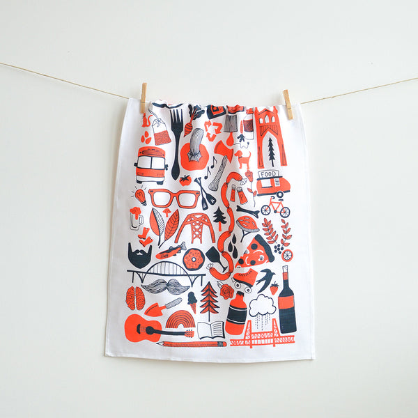 PDX Things – Tea Towel