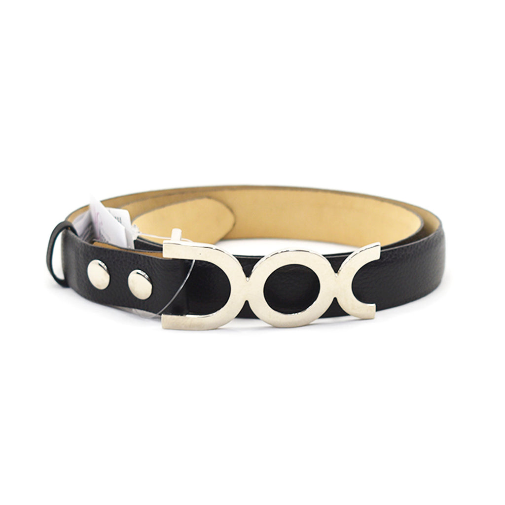 Rossy Black Leather Belt - Chica It Boutique