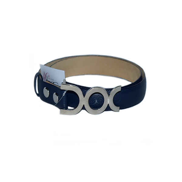 Rossy Navy Leather Belt - Chica It Boutique
