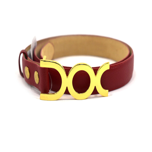Rosssy Red Leather Belt - Chica It Boutique
