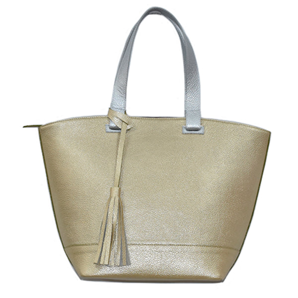 Samantha Metallic Tote Bag