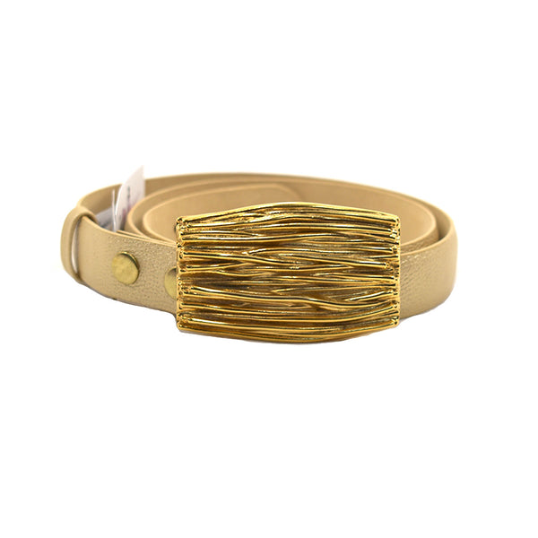 Sasha Gold Leather Belt