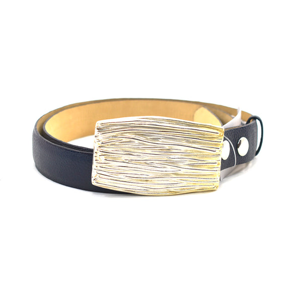 Sasha Navy Leather Belt