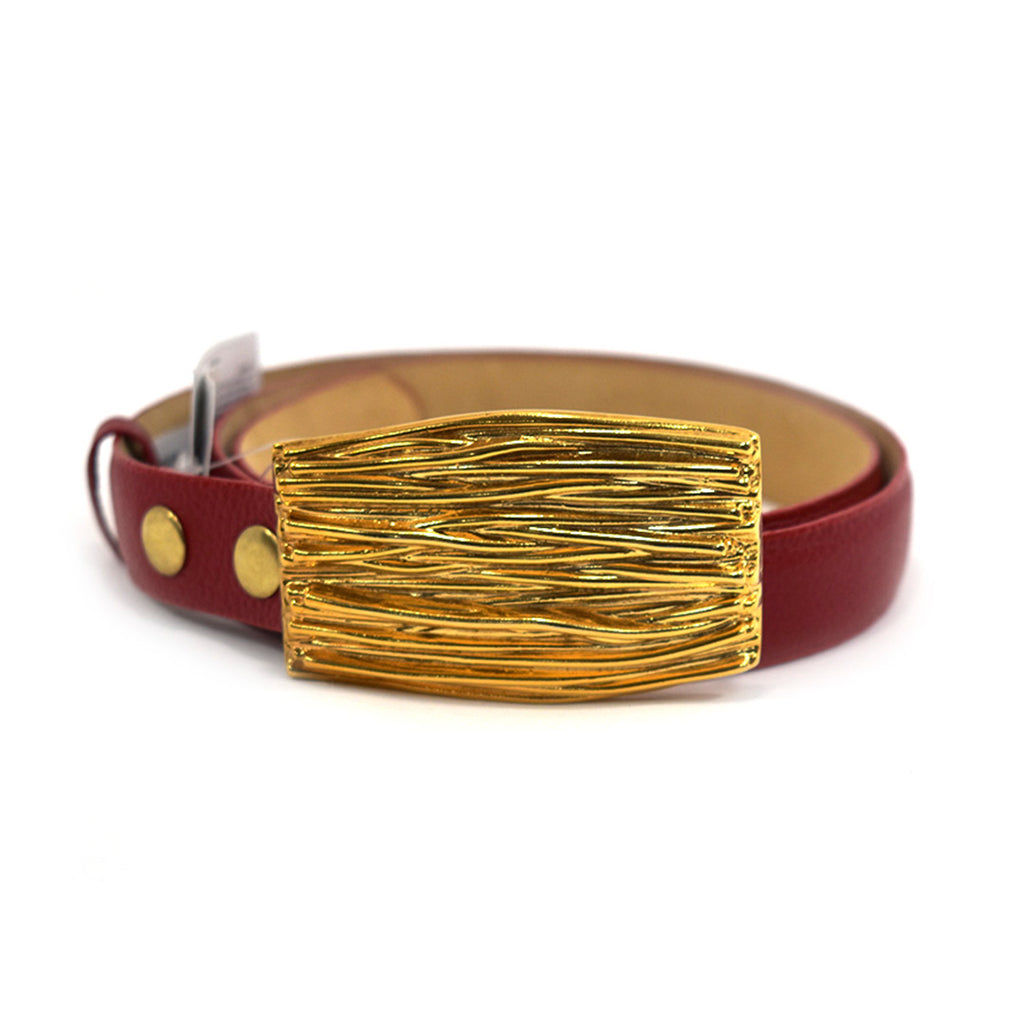 Sasha Red Leather Belt - Chica It Boutique