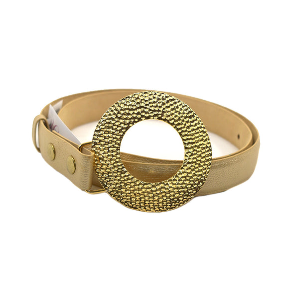 Sofia Gold Leather Belt - Chica It Boutique