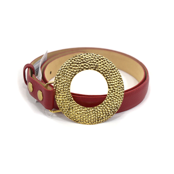 Sofia Red Leather Belt - Chica It Boutique