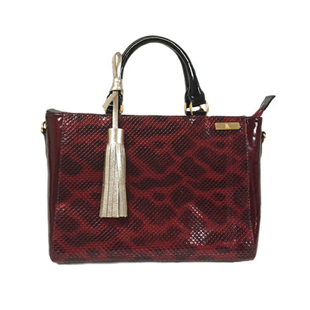 Zebra Adjustable Handle Tote - Chica It Boutique