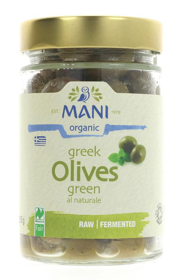 Mani Greek Olives - Green Naturale