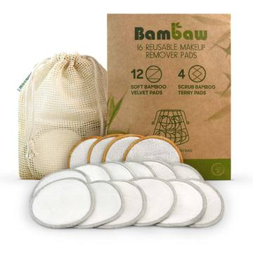 Bambaw 16 Reusable Makeup Remover Pads