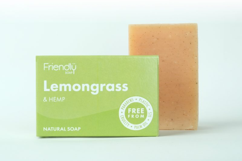 Friendly Soap Natural Bath Soap - Lemongrass & Hemp  95g