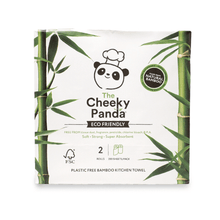Load image into Gallery viewer, The Cheeky Panda - 2ply Bamboo Kitchen Roll (2 Pack)