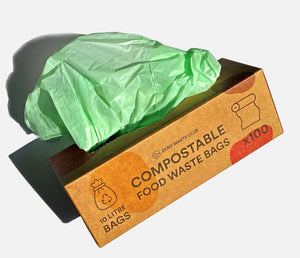 Compostable Food Waste Bags - Pack of 100 - 10 Litre Bags
