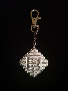 Diamond Silver Filigree Light Reflector