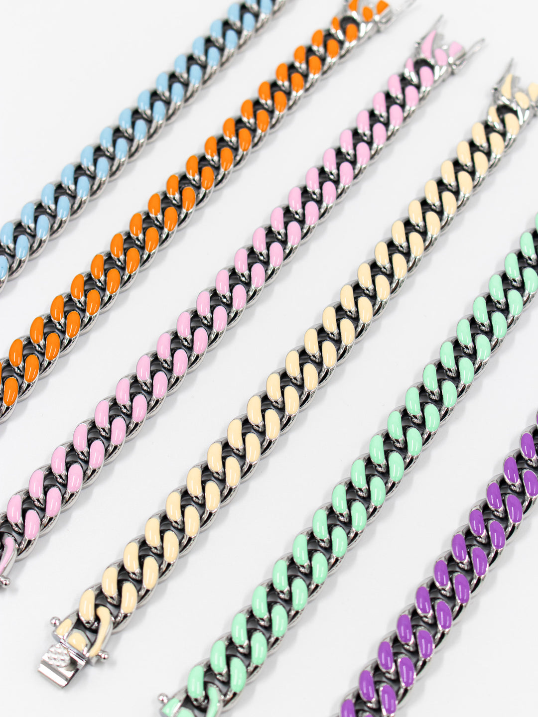 Colored Cuban Bracelts