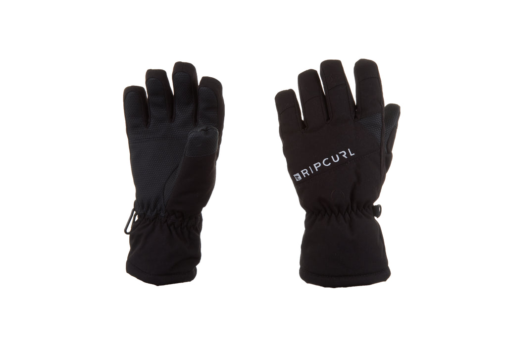 Rip Curl Junior Rider Kids Snow Waterproof Gloves Black
