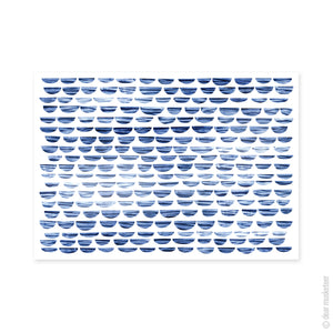 Shibori Waves A3 Art Print