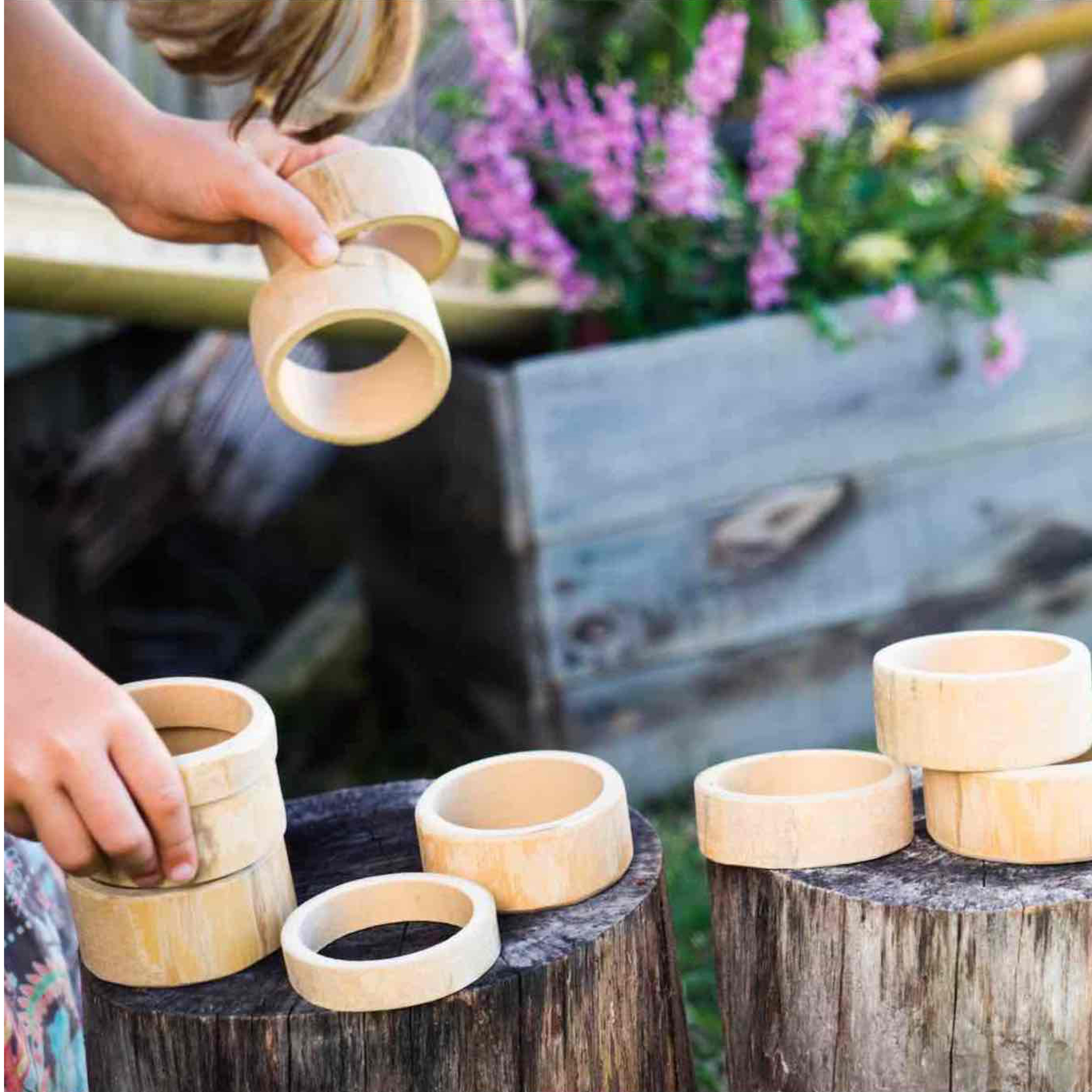 Natural Bamboo Building Rings