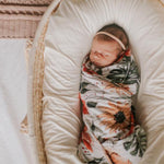Load image into Gallery viewer, Island Floral Swaddle Wrap