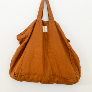 French Linen Market Tote - assorted colours