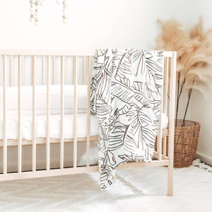 Jungle Palms Muslin Swaddle Blanket