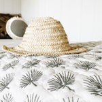 Load image into Gallery viewer, Fan Palm Kantha Blanket
