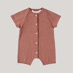Load image into Gallery viewer, ORGANIC Snap Romper S/S - Terracotta
