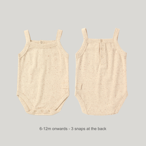 ORGANIC Tank Top Suit - Beige Speckled