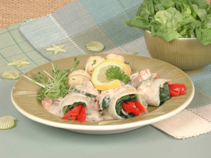 Fillet of Sole Stuffed with Spinach