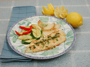 Flounder Fillet with Capers and Lemon